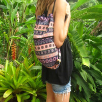Flower Aztec Drawstring Backpack Rucksack Day Bag Beach Bag Surfer Travel Boho | eBay