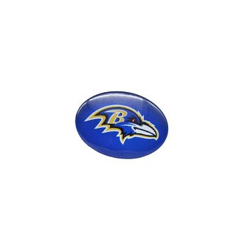 Glass Snap Button 18mmX25mm Baltimore Ravens Charms Snaps Bracelet for Women Men Football Fans Gift Paty Birthday Fashion 2017