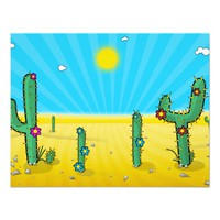 Cactus! 4.25x5.5 Paper Invitation Card