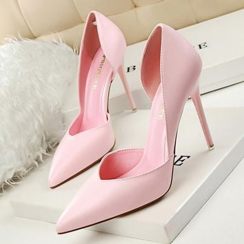 Women Pumps Summer High Heels Black Pink Yellow Shoes Women bridal Wedding Shoes Ladie