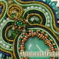 Green Power -Soutache Necklace -Made in Italy Jewels