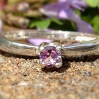 Alexandrite Tiffany-set Sterling Silver Ring, Promise Ring, Engagement Ring, June Birthstone