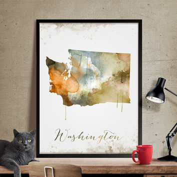 Washington dc map, Washington dc wall art, washington dc art, watercolor painting, washington dc print, map art, home decor, wall art (292)