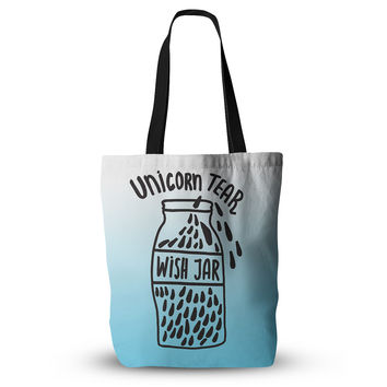 "Vasare Nar ""Unicorn Wish Jar"" Blue Black Everything Tote Bag"