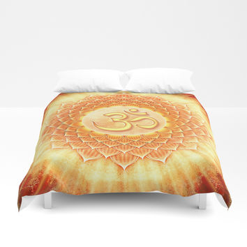 Lotos Om Duvet Cover by Dirk Czarnota