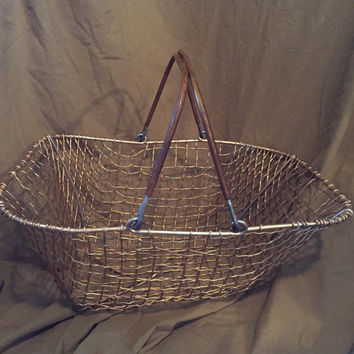 Vintage Metal Shopping Basket
