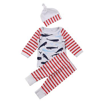 Newborn Infant Baby Boy Girl Outfits Clothes Set Hoodie Pants Leggings Hat Halloween