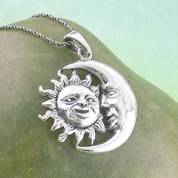 Moon Gazing at the Sun Necklace