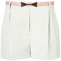 Belted Structured Shorts - Smart Shorts - Shorts  - Apparel - Topshop USA