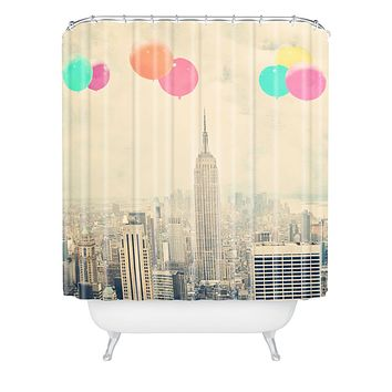 Maybe Sparrow Photography Balloons Over The City Shower Curtain
