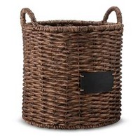 Smith & Hawken™ Round Decorative Basket with Cha... : Target