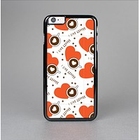 The Vector Red Hearts with Coffee Mugs Skin-Sert for the Apple iPhone 6 Skin-Sert Case