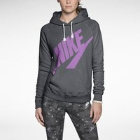 Nike Rally Futura Pullover Women's Hoodie - Dark Grey