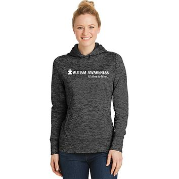 Buy Cool Shirts Autism Awareness Time to Listen Ladies Moisture Wicking Hoodie