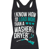 Racerback Tank Top: Load More Than a Washer and Dryer