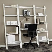 White Linea Leaning Desk | The Container Store