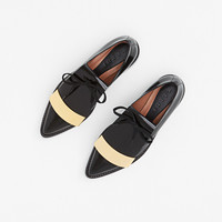 Totokaelo - Marni Coal Metal Trim Tongue Derby - $1,020.00