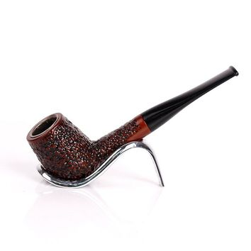 Red Carved Pipes Chimney Smoking Pipes Mouthpiece Herb Tobacco Pipe Cigar Gifts Narguile Weed Grinder Smoke Cigarette Holder