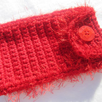 Crocheted Sunglass or Glasses Case - RED