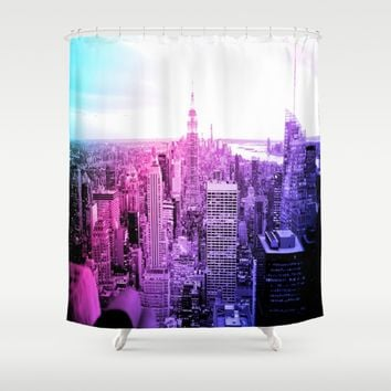 New York City : Pastel  Shower Curtain by 2sweet4words Designs