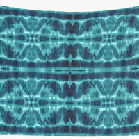 'Tie-Dye Teal Twos' Wall Tapestry by Nina May