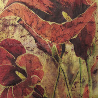 Red Lilies Giclee Print From Original Painting, Choose Size