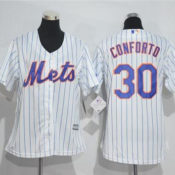 Women's New York Mets #30 Michael Conforto Majestic Cool Base Jersey