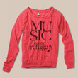 Love Music Organic Loose Fit Long Sleeve Pullover