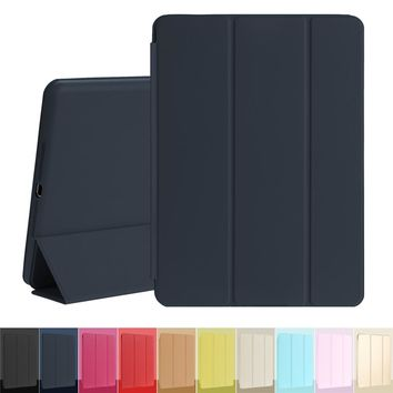 Tablet Case Magnetic Leather Trifold Smart Cover for Apple iPad Air 1st Generation with Rubberized Back Case Auto sleep Wake