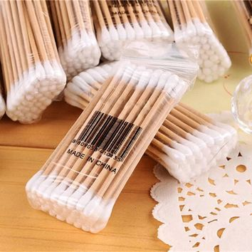 30pcs Nano Cotton Swab Brushes Mascara Eyelash Extension Dental Care Disposable Applicator Eye Makeup Glue Remove Tool
