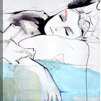 Maddelina Figurative Canvas Wall Art Print by Leigh Viner