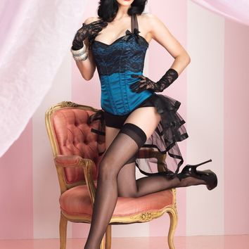 Selene Corset (Medium,Blue)