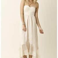 Twelfth Street by Cynthia Vincent New HIgh Low Strapless Maxi