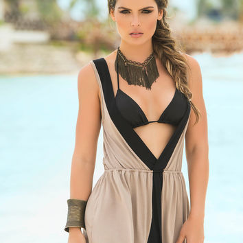 Sleeveless Sun Dress Swimwear Cover-Up