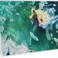 'Emerald-Teal Marble' Laptop Skin by Lauren Foner
