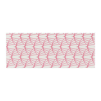 "KESS Original ""Stitches"" Pink White Bed Runner"