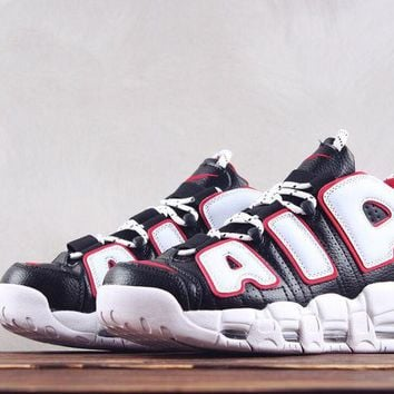 AUGUAU N259 Nike Air More Uptempo 96 Doernbecher Basketball Shoes Black White Red