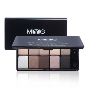 Hot 10 Colors Eye Shadow Palette Naked Smoky Eyes Makeup Matte Eyeshadow Palette Lasting Pigment Cosmetics with Brush & Mirror