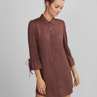 Tiered Sleeve Shirt Dress