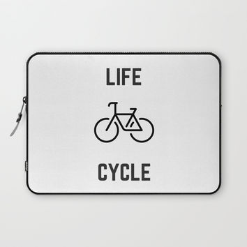 LIFE CYCLE Laptop Sleeve by Love from Sophie