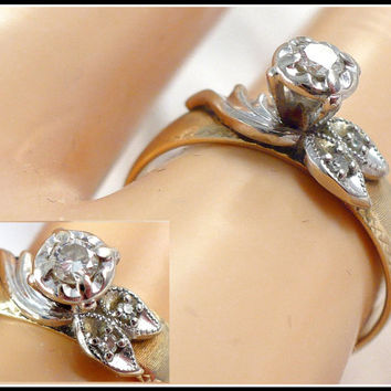 Diamond Solitaire Ring, Size 6 Quarter, 14kt Yellow Gold Band, Tiffany Setting, Promise or Engagement Ring, Gift For Her