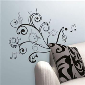 Rhythm of Music Notes - Peel N Stick Dorm Room Wall Decoration Cool College Stuff Decorations Dorms Decals New