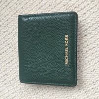 MICHAEL KORS GREEN SOFT LEATHER WALLET/PURSE