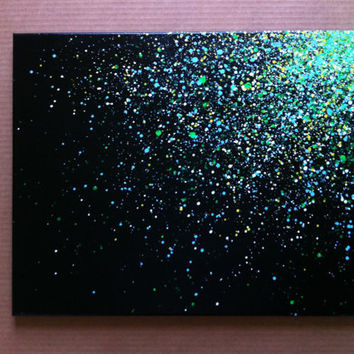 16x20  Paint Splatter Canvas by EASERR on Etsy