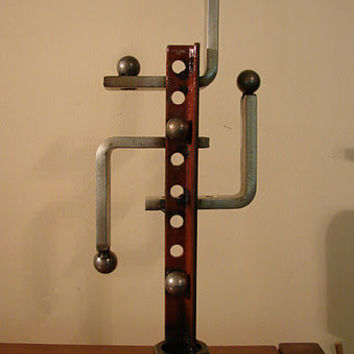 """Recycled Metal Abstract Sculpture 'Isotope"""""""
