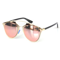 Classic Rose Gold Mirror Sunglasses Fashion REFLECTED Brand Designer Women Or Men UV400 Real Sun Glasses Female Eyewear Outdoor