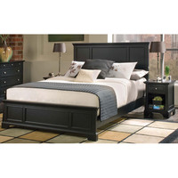 Home Styles Furniture 5531-5011 Bedford Black Queen Headboard and Night Stand