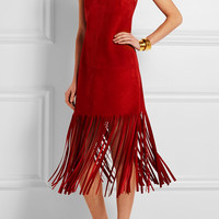 Valentino | Fringed suede midi dress | NET-A-PORTER.COM