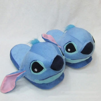 Lilo Stitch Plush slippers women cotton warm home indoor pantufas de pelucia