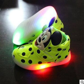 Light Up Polka Dot Mickey Mouse Shoes